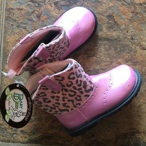 Baby Deer Walking Stage Leopard Print Boots